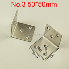 10PCS 50*50mm Stainless Steel Thick Metal angle bracket Furniture Accessory Right angle connector Corner furniture hardware E273