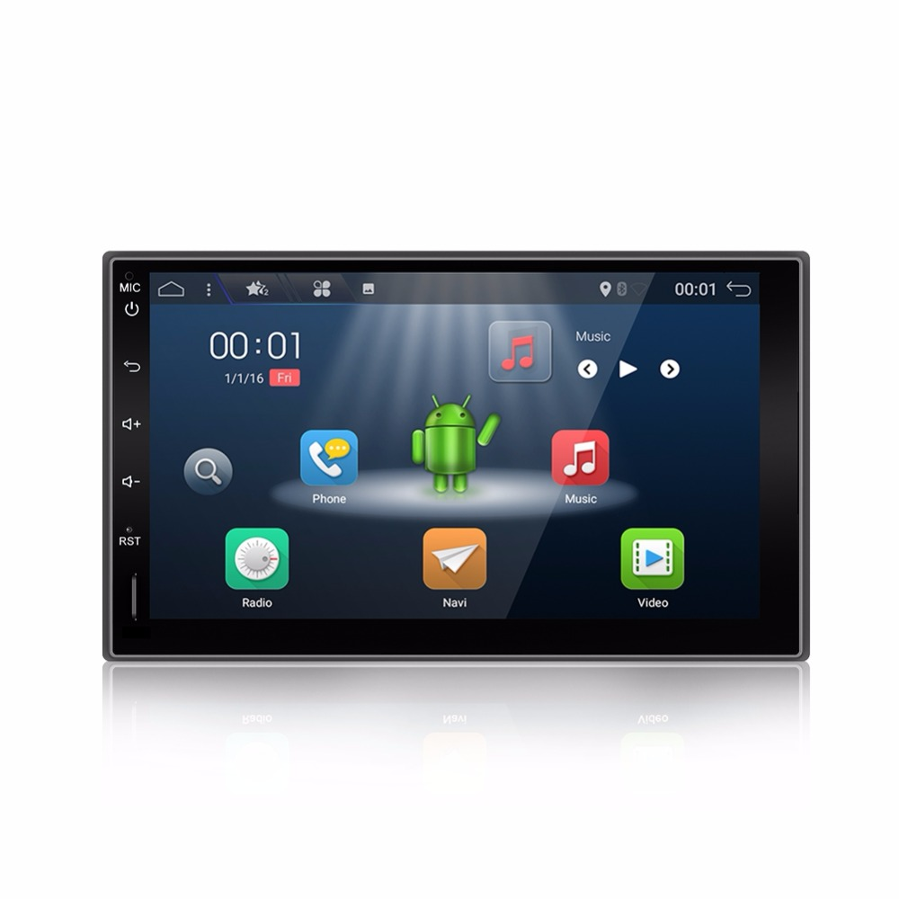 2 Din Android 7.1 Quad Full-Touch Car PC Tablet double 2din Audio 7GPS Navi Car Stereo Radio without DVD mp3 Player Bluetooth