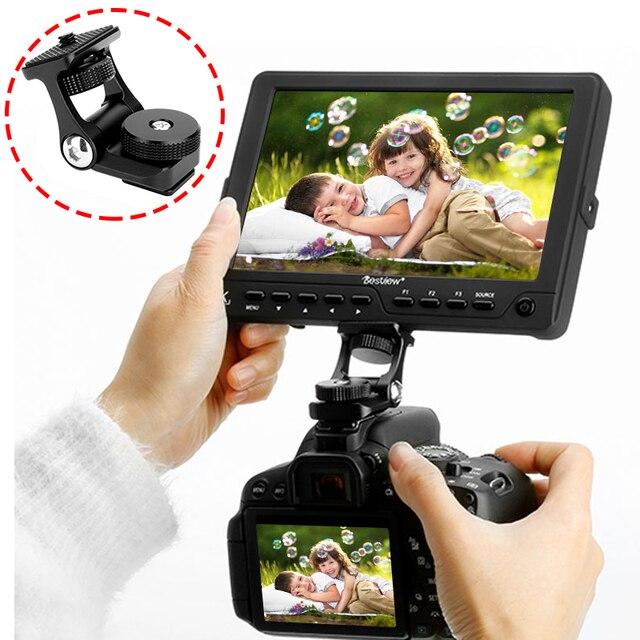 Ulanzi soporte para Monitor, brazos móviles duales, rotación de 180 grados, soporte de zapata fría para cámaras DSLR, Monitor de vídeo