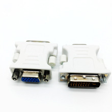 1pcs 1080P DVI DVI-I Male 24+5 Pin to VGA Female Video Converter Adapter Plug for HDTV LCD DVD Computer Projector