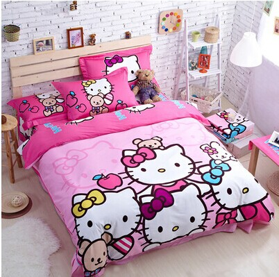 2015 Sale Duvet Cover Comforter Bedding Set Sale!100% Cotton Hello Kitty  Size Set/ Bed Sheet/bedclothes For Children Kids Linen In Bedding Sets From  Home ...
