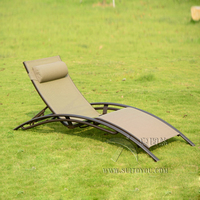 High quality Outdoor furniture beach chair lounger for swimming pool Patio furniture to sea port by sea