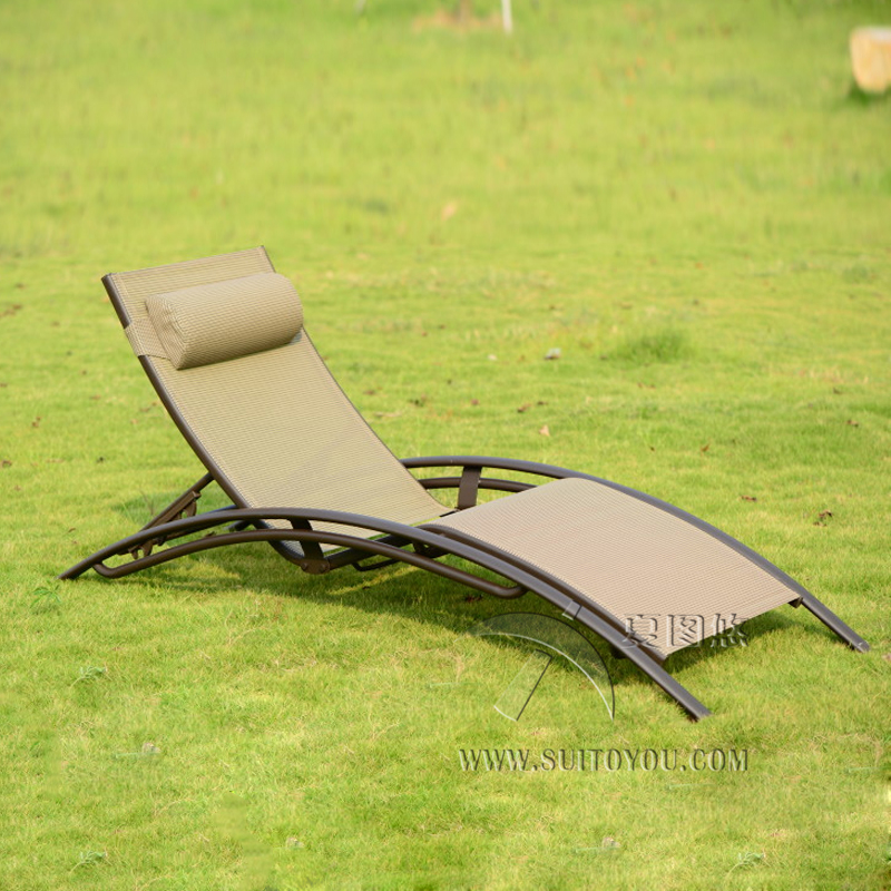 High Quality Outdoor Furniture Beach Chair Lounger For Swimming Pool Patio  Furniture Transport By Sea(