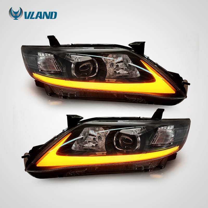 Vland  Factory Headlight For Camry V40 Led Head Light 2009 2010 2011 Head Lamp With Turn Moving Signal