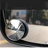 Espejo de punto ciego HD de 360 grados para coche, sin marco, ultrafino, gran angular, redondo, convexo, accesorios para coche
