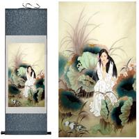 Pretty Girl Art Painting Chinese Art Painting Home Office Decoration Chinese Painting Beautyfull Woman And Water