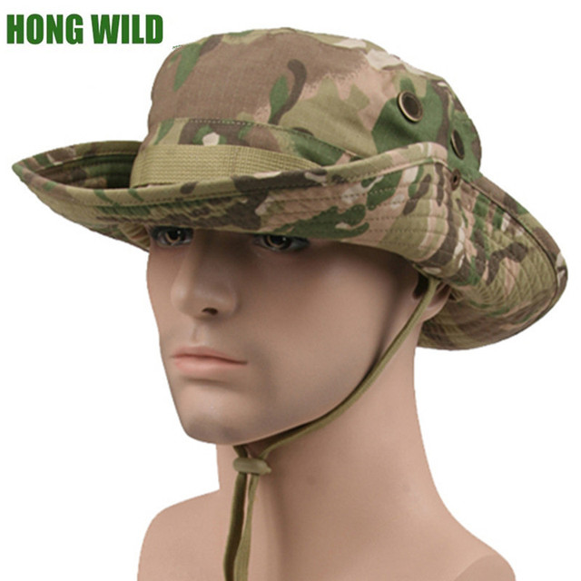 230a71d1925 HONG WILD Tactical Airsoft Sniper Camouflage Boonie Hats Nepalese Cap  Militares Army Mens Military Accessories A