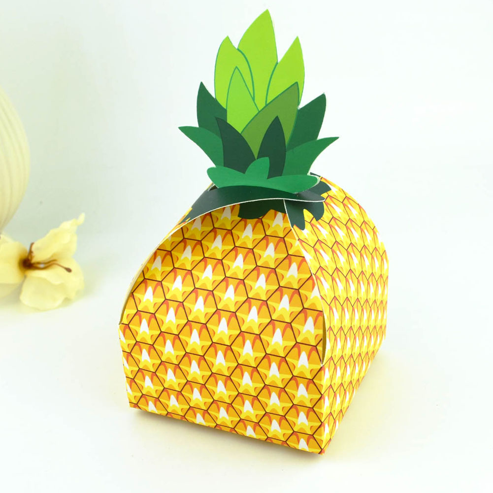 12pcs Paper Pineapple Candy Box Gift Bag Wedding Gift Box Baby Shower Favors Birthday Party Christmas Supply Wedding Decoration
