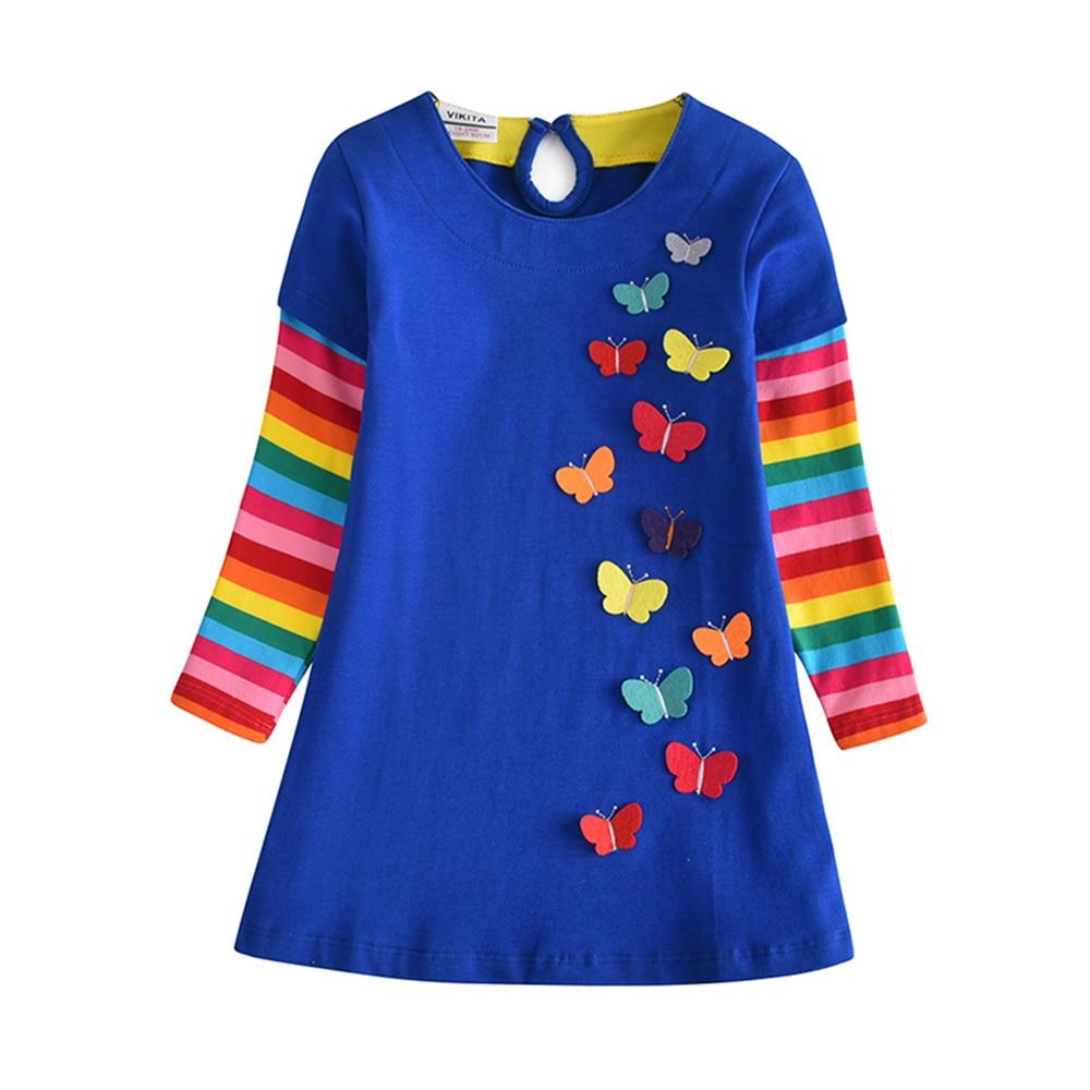 HTB1qGVzQsfpK1RjSZFOq6y6nFXa6 VIKITA Girls Dress Long Sleeve Kids Flower Dresses Children Unicorn Vestidos 2019 Girls Dresses Autumn Kids Dress For Girl