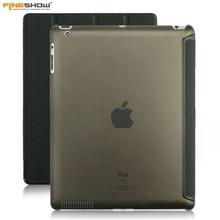 Fineshow tablet case para apple ipad 2 ipad 3 ipad 4 claro transparente de la piel cubierta elegante despierta sueño case funda para ET00071
