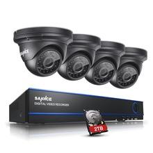 Sannce 2.0mp 1080 P hd 4 канала dvr ахд видеонаблюдения комплект 4 шт. открытый Домашней Безопасности ИК Ночного Видения Камеры Системы ВИДЕОНАБЛЮДЕНИЯ с 2 ТБ