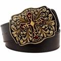 El Punk rock de moda cinturón de hebilla de Metal hueco retro cruz correas decorativo Correa de los hombres correa de Cuero de la Calle hip hop regalos para mujeres