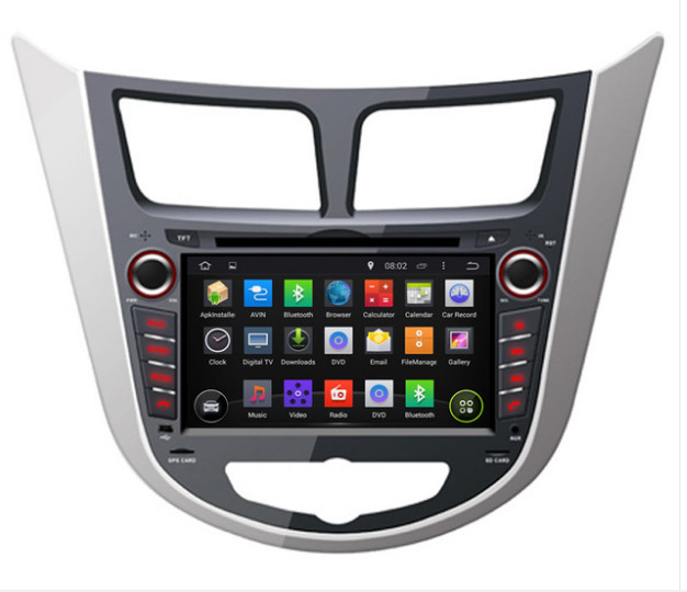 2018 7 pouces 4G LTE 1024*600 octa core Android 8.0! Lecteur DVD multimédia voiture Radio GPS pour Hyundai Verna/Accent/Solaris 2011-17