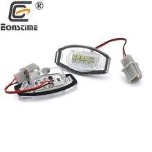 Eonstime 2pcs 18 LED License Plate Lights Number Lamp For Honda Civic VII4 5D 01-05 City 4D Legend Accord 4D Civic VIII Acura