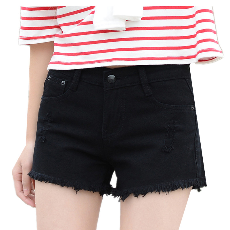 B1985 summer 2020 new Korean version women loose and wide legs show slim girls denim shorts cheap wholesale