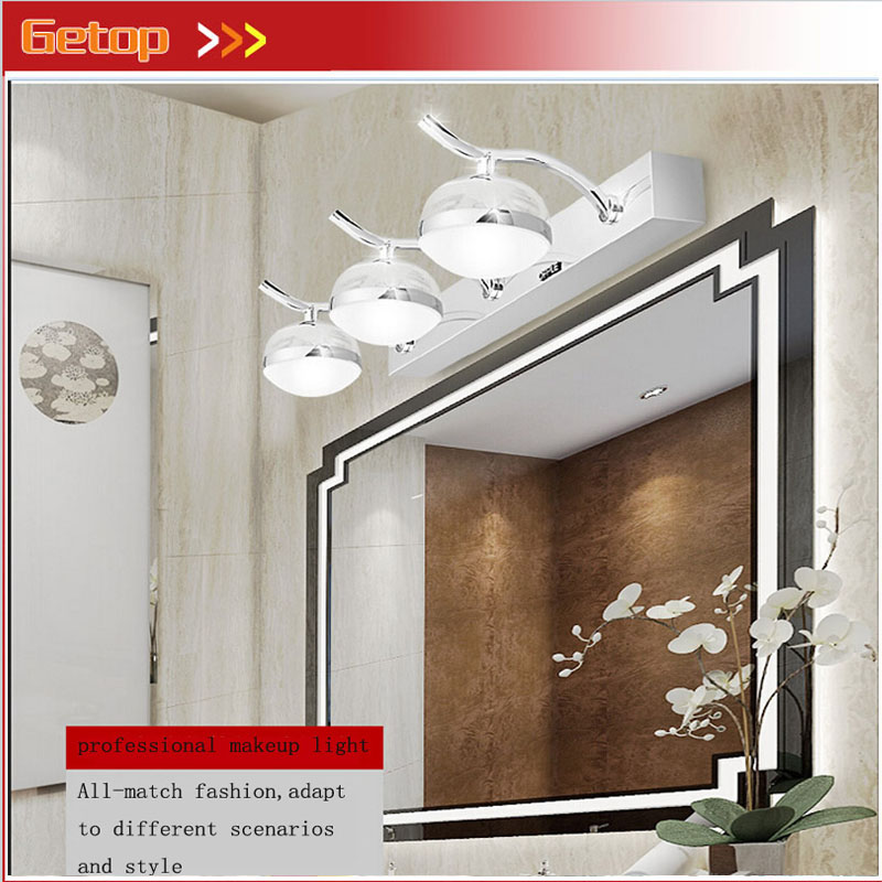 Modern Acryl LED Mirror Wall Lamp Waterproof Damp Proof Dressing Room Makeup Magic Ball Lights Fixture for Bathroom Toilet 40cm 12w acryl aluminum led wall lamp mirror light for bathroom aisle living room waterproof anti fog mirror lamps 2131