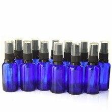 12 шт. 30 мл пустые кобальтовые синие стеклянные бутылки с распылителем испаритель с мелким распылителем для эфирных масел парфюмерный распылитель