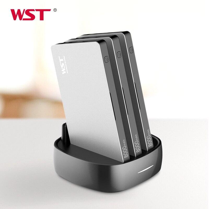 WST Portable Chargeur pour Famille Affaires Publiques 3 pièces 8000 mAh batterie externe avec Câbles De Charge Chargeur