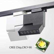 2/3/4 Wire 3 Phase LED Track Light 12W 85-265V Rail Spotlights Modern Lights  Shoes Store Lamp Exhibition Shop Lighting