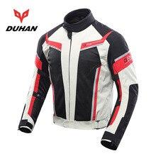 Новая DUHAN дышащая Летняя Сетка Мотоциклетная Куртка Светоотражающие мотоциклетные куртки из ткани Оксфорд 600D и CE защитное снаряжение