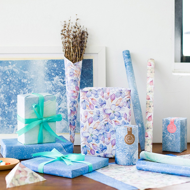Hot Sale 50*70cm 8pcs gift Wrapping Paper for birthday ...