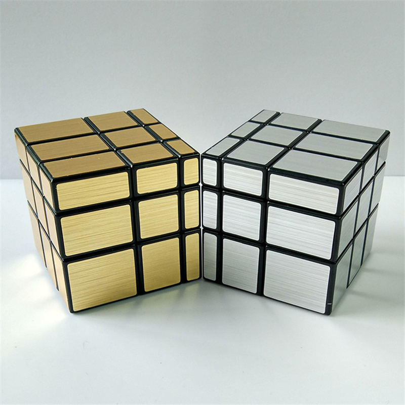 3 layer 3x3x3 57mm Wire Drawing Style Cast Coated Magic Cube Challenge Gifts Puzzle Mirror Cubes