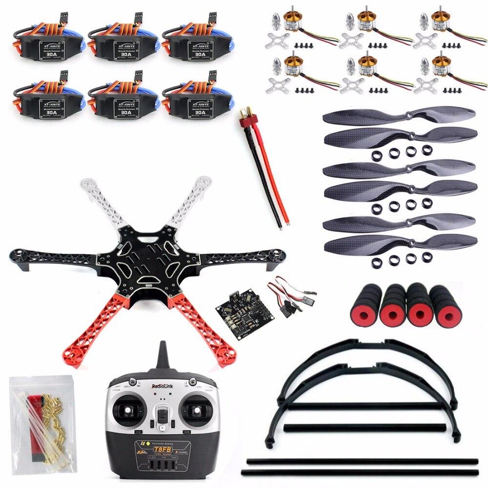 F550 font b Drone b font FlameWheel Kit With KK 2 3 ESC Motor Carbon Fiber