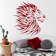 Art Removable Lion Wild Cat Animal Wall Sticker Home Decor Vinyl Bedroom Living Room Decal DIY Mural W-59
