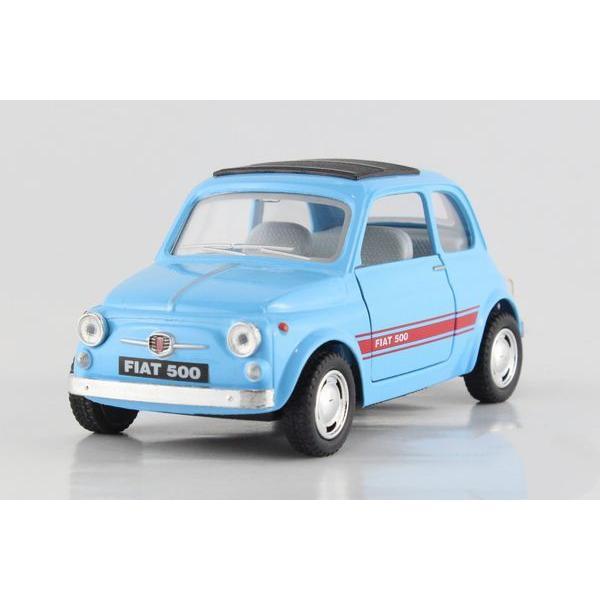 Children Kids Fiat 500 Model Car 1 24 Kt5004 5inch Diecast Metal