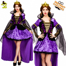 New Arrival Womens Noble Vampire Queen Costume Cosplay Adult Women Witch Halloween Party Costumes