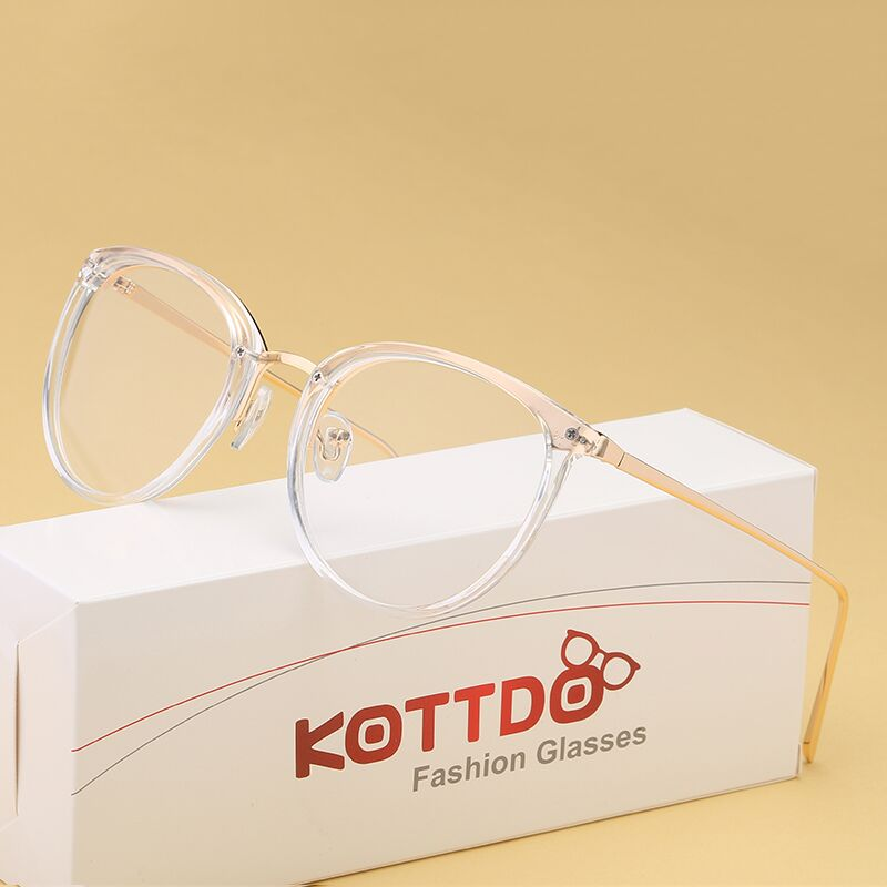 KOTTDO Myopia Optical Glasses Eyeglasses Frames Women Trend Metal Spectacles Clear Lenses Men Glasses Frame Oculos