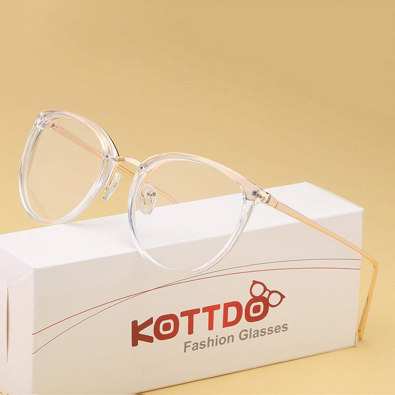 KOTTDO Myopia Optical Glasses Eyeglasses Frames Women Trend Metal Spectacles Clear Lenses Men Glasses Frame Oculos