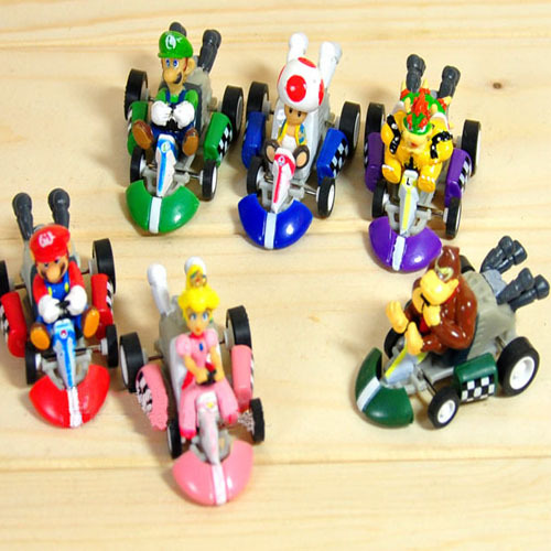 Miniature Toys For Boys : Hot anime games super mario bros kart figurines mini toy