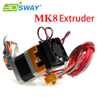 3DSWAY 3D Printer Extruder 12 24V Fan Single Extruder MK8 Extruder 0 2 0 3 0