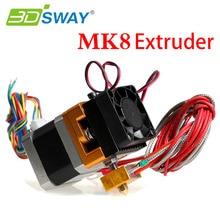 3 DSWAY 3D Экструдер Принтер 12/24 В Вентилятор одного экструдера MK8 Экструдер 0.2/0.3/0.4/0.5 мм для 1.75 мм Накаливания Makerbot 3d-принтер