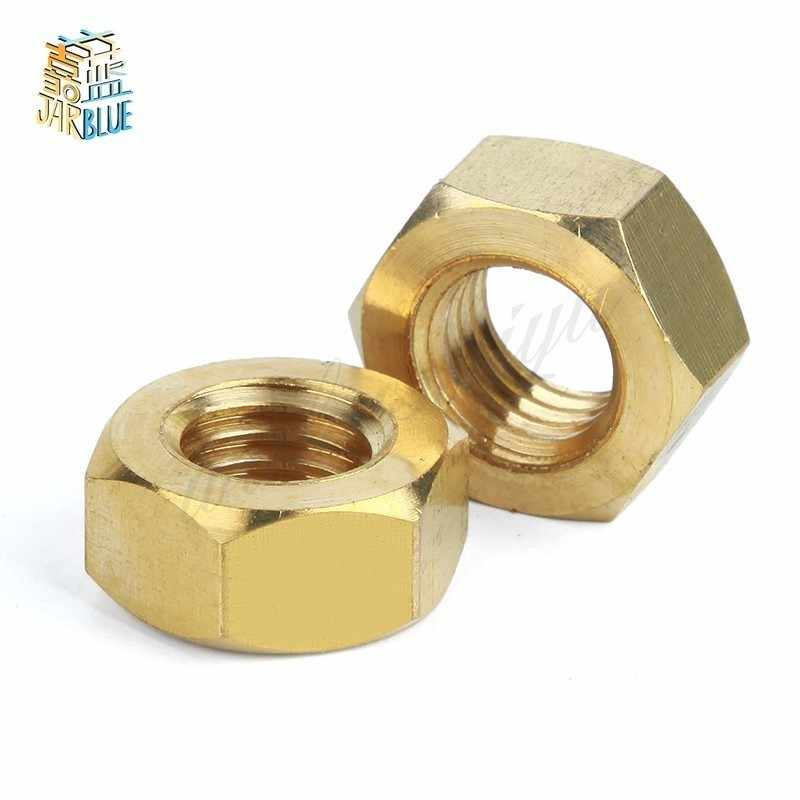 50Pcs DIN934 M1.6 M2 M2.5 M3 M4 M5 M6 H62 Hexagonal Brass Hex Nuts Hexagon Nut HW048