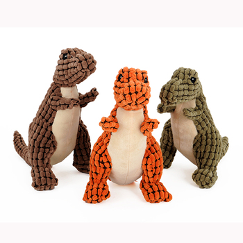 Hot dinosaur 12pcs/lot High Quality corn kernels Funny Pet Toy Pet Dog Toys Solid Resistance To Bite Playable 3 colors dinosaur