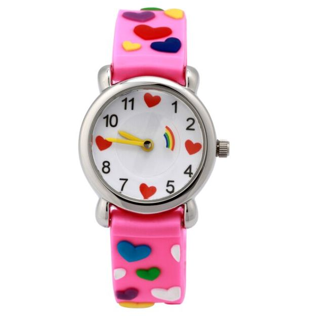 Waterproof Brand Quartz Wrist Watch Baby Children watch hearts Kid Watches For G