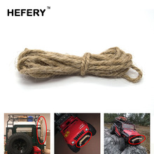 RC Car Accessories Decoration Simulated Hemp Rope for 1:10 RC Rock Crawler Axial SCX10 90046 90047 TAMIYA CC01 RC4WD D90 4pcs 1 10 rc rock crawler 2 2 rubber tyre wheel tires for axial scx10 tamiya cc01 rc4wd d90 rc climbing car parts