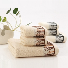 32 Stocks Geometric Trees Pattern Towel Sets High Quality Thickening Worsted Soft Comfortable Bath Towel Water Absorption Towels