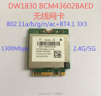 BCM943602BAED DW1830 Ac NGFF 1300Mbps BT4 1 0HHKJD HHKJD WiFi Wireless Network Card Better Than BCM94352Z