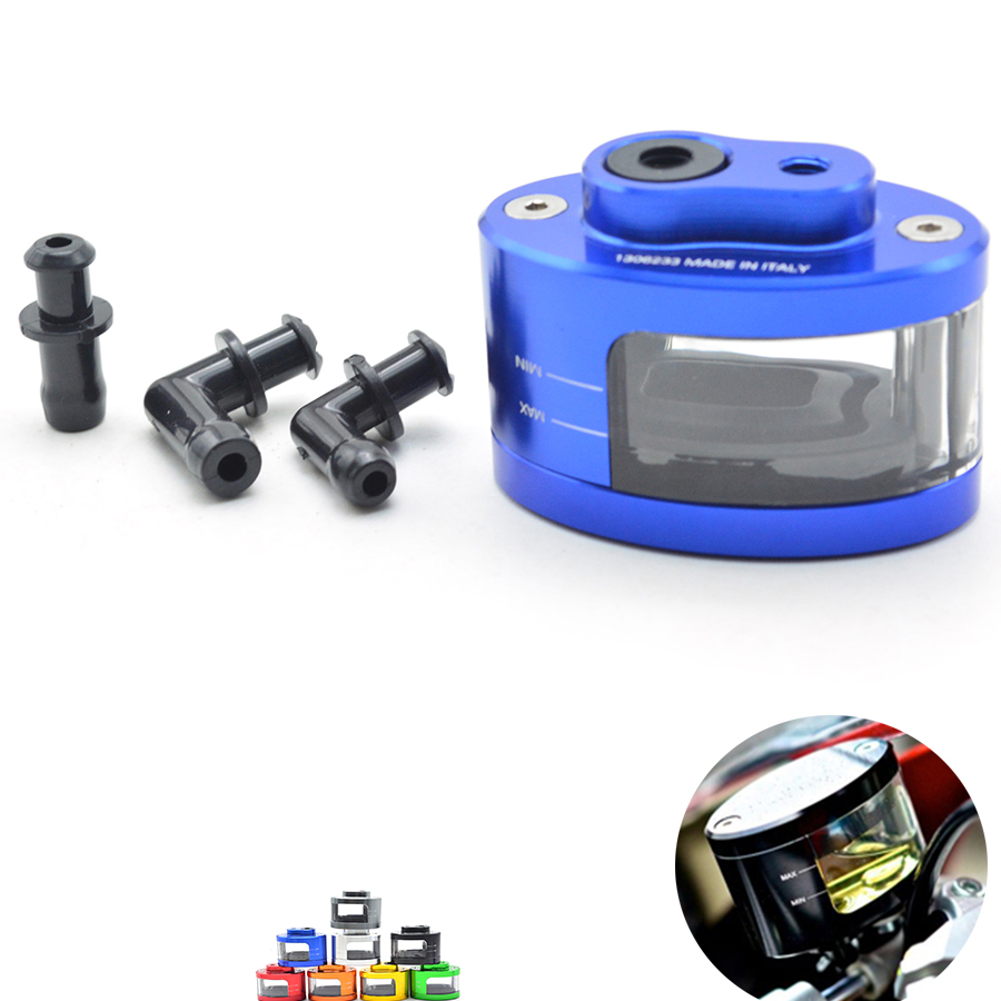 Universal CNC Motorcycle Brake Fluid Reservoir Oil Cup For Sport Bike Street Bike Scooter Dirt Bike For bmw f650/750/800gs K1200 universal cnc aluminum rear side rearview mirrors for street bikes cruisers choppers dirt monkey bike scooter moptorcycle endruo