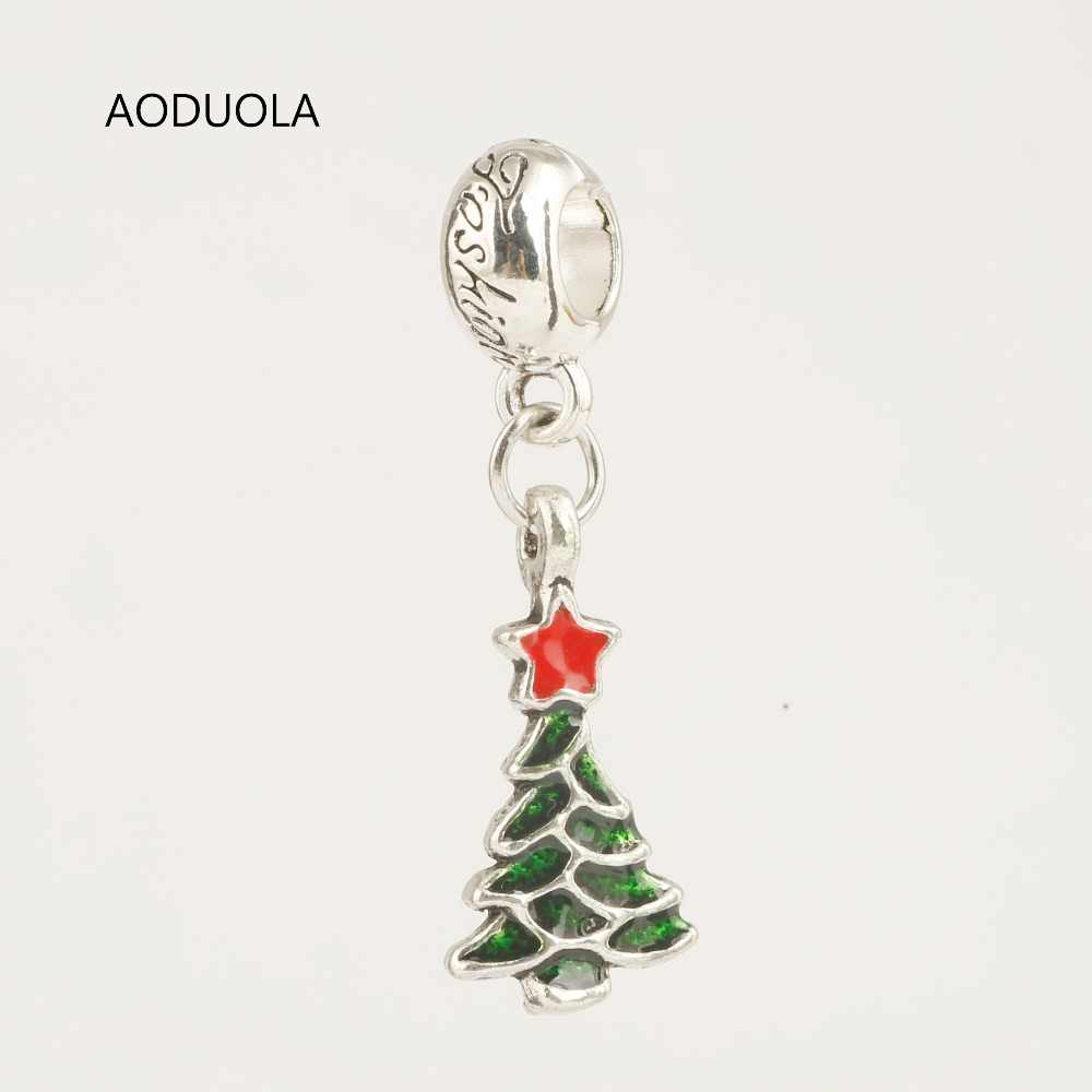 Detail Feedback Questions about 10 Pcs a Lot Christmas Collection Beads  Pendants Tree DIY Big Hole Metal Beads Spacer Bead Charm Fit For Pandora  Charms ... e7be9958d8ef