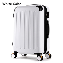 High quality 28inches lovely abs pc candy color travel luggage for male and female,hardside case on universal wheels with brake