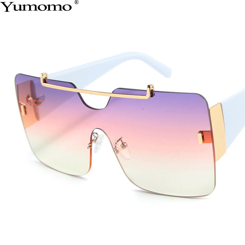 Oversized Square Sunglasses Women Personlity Vintage Red Purple Pastic Frame Gradient Tinted Color Lens UV400 Female Glasses in Women 39 s Sunglasses from Apparel Accessories