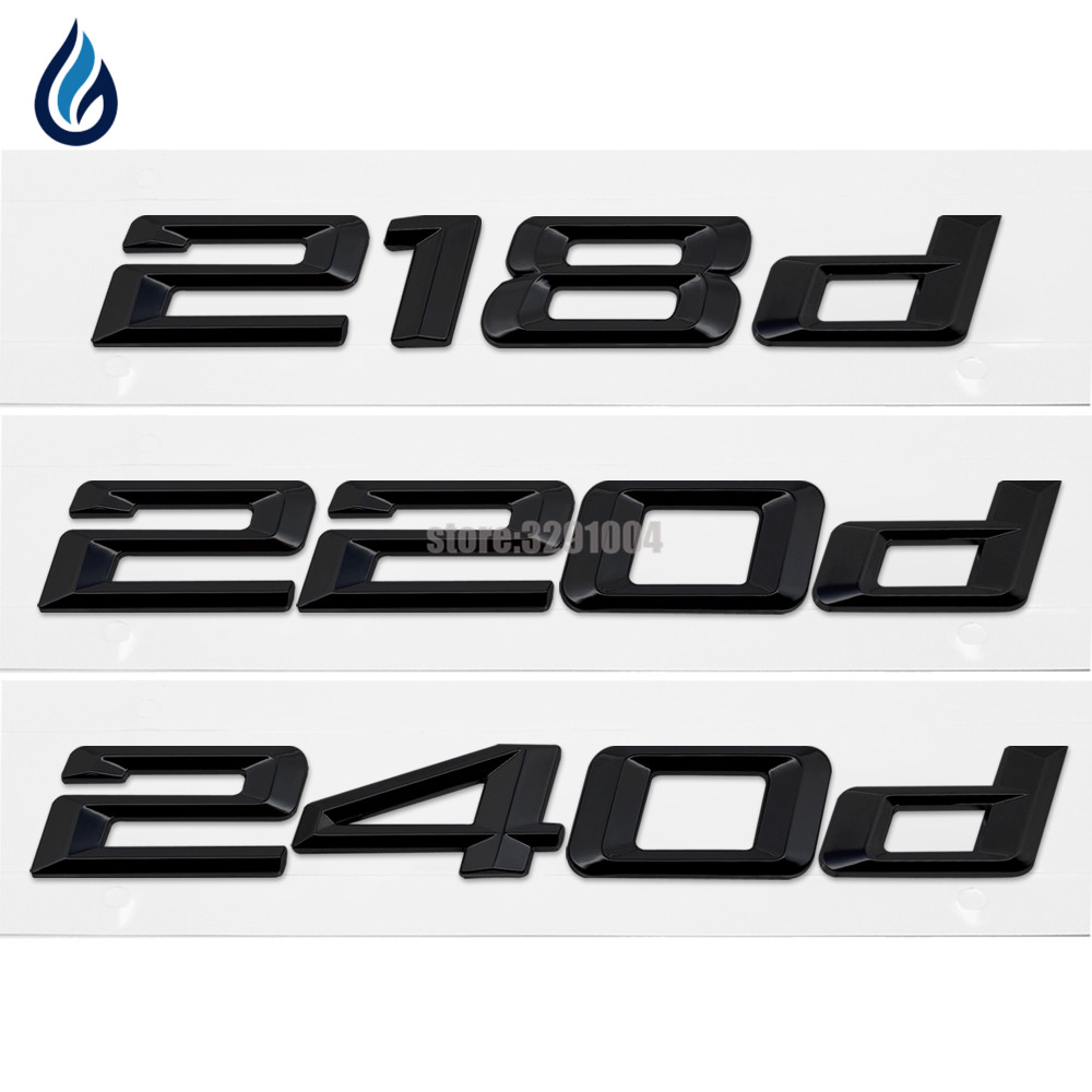 Car-Styling Trunk Lid Rear Emblem Badge Chrome Letters 218d 220d 240d For BMW 2 Series F22 F45 F23 F46 ruru15070 to 218
