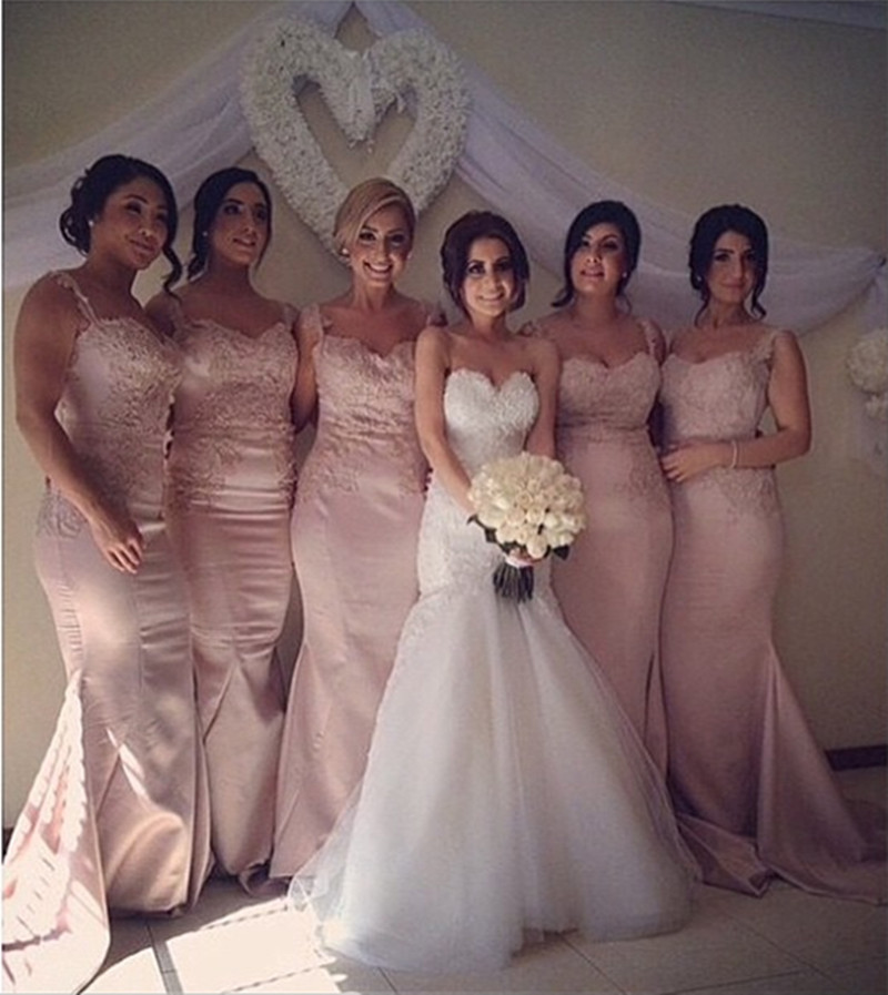 Buy wholesale pink lace satin mermaid for Wholesale wedding dress suppliers