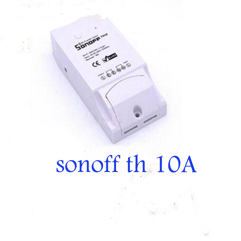 Itead Switch Sonoff TH 10A Temperature Humidity Monitor WiFi Wireless Smart Switch Remote Control Controlled by ios&android app ac 250v 20a normal close 60c temperature control switch bimetal thermostat