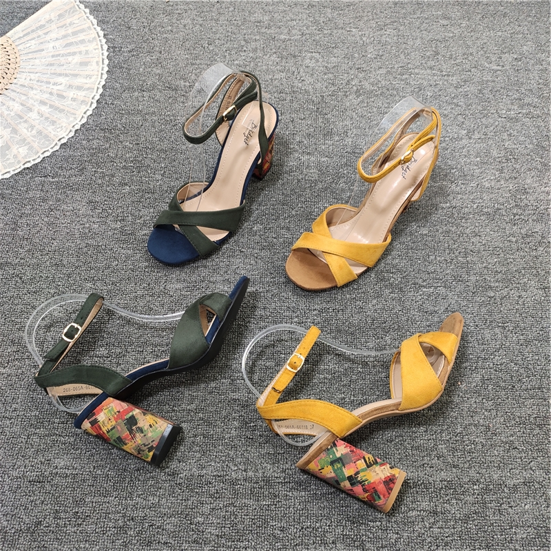 High Heel Sandal For Women Multicolored Sandals