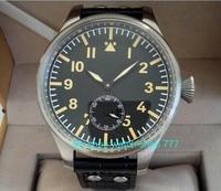55 mm very big dial PARNIS Asian 6498 Mechanical Hand Wind Mechanical movement men watches Mechanical watches 288a